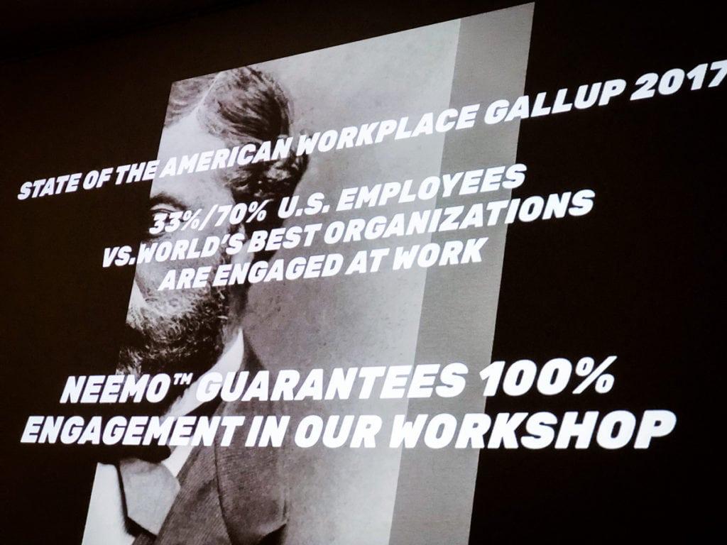 KOOK Management använder workshopen Neemo Method. Det är ett nytt verktyg för företagsledning. Personalhantering ger Neem verktyget för att utveckla framtida arbetslivskunskaper #futureofwork.