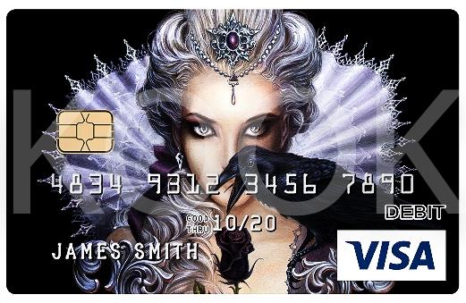 Mustaruusu - Urban Rock henkiset pankkikortit erottuvat! Kook Management edustaa Alchemy Englandin kuvagallerioita ja yli 800 kuvateosta. #Bankcard #luottokortti #pankkikortti #debitkortti