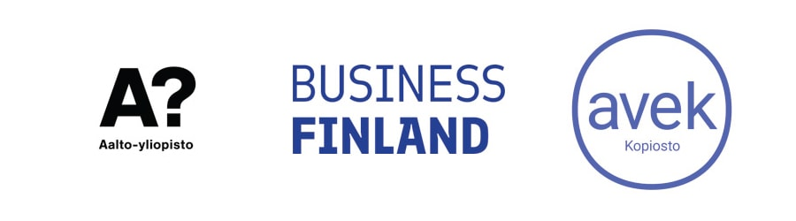 Kook Management has collaborated with Business Finland, AVEK ry and Allto Yliopisto